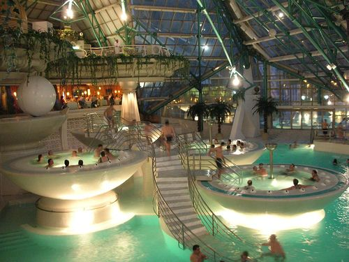 Andorra is the home to Caldea thermal spa, one of Europe's largest health spa's, with over 6000 square metres of pools and its standing futuristic architecture set it perfectly between the mountain peaks of the Pyrenees.