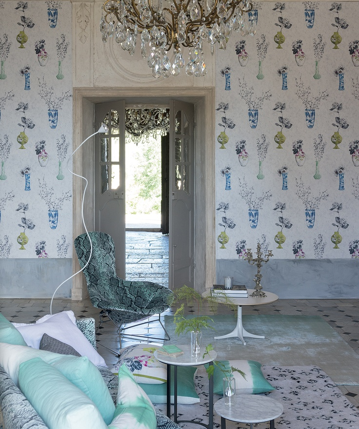 Celeste, this simply beautiful fresh new wallcovering for Spring 2013