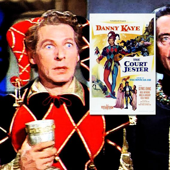 """""""The pellet with the poison's in the flagon with the dragon; the vessel with the pestle has the brew that is true."""" The Court Jester (1955) A hapless carnival performer masquerades as the court jester as part of a plot against an evil ruler who has overthrown the rightful king. Directors, writers: Melvin Frank, Norman Panama. Stars: Danny Kaye, Glynis Johns, Basil Rathbone, Angela Lansbury, Cecil Parker, Mildred Natwick, Robert Middleton."""