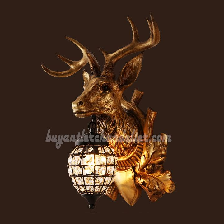 Pin On Antler Wall Lamps