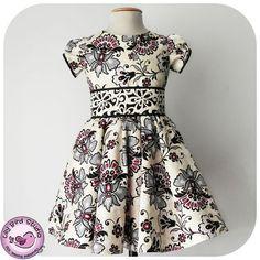 Patrón de costura de PDF Lily Bird Studio - Vestido de Amanda - 1 a 10 años - círculo de falda, blusa clásica, mangas puffy, faja ancha