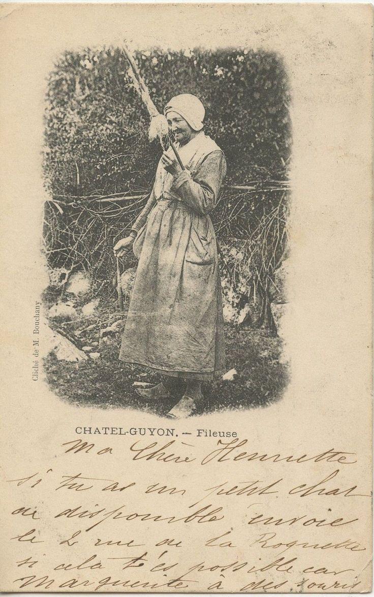 Postcard Carte Postale Chatel Guyon Fileuse 1902   eBay