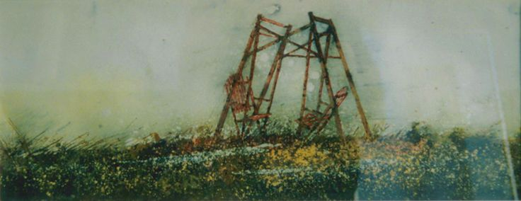 """the horizon 18 (saugeen) 10"""" x 30""""    micheal   zarowsky    watercolour on arches paper / private collection"""