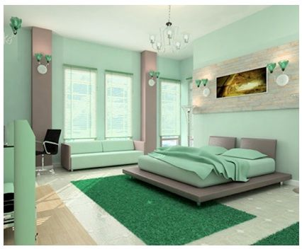 Paint: Relaxing Green by Behr (Sea-foam Mint - So cute in person!)