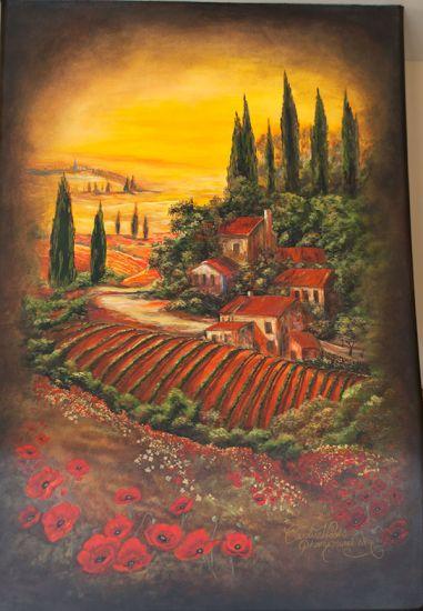 Tuscan Vineyard Mural on Kitchen Rangehood: Tuscan Murals, Color, Marvel Murals, Vineyard Murals, Bathroom Murals, Murals S