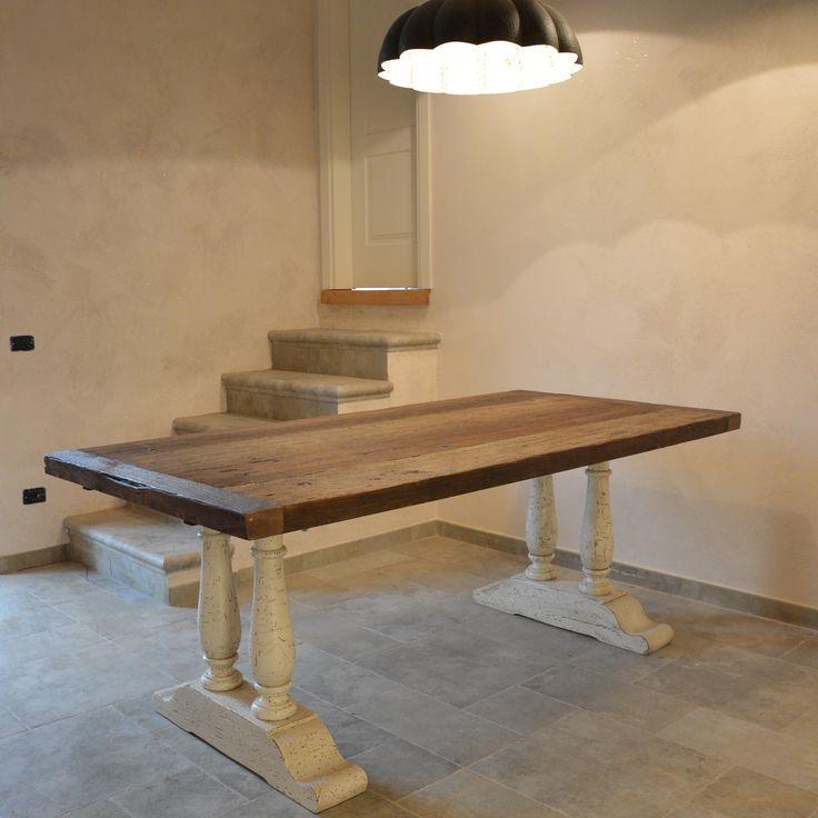 tavolo in rovere in patina