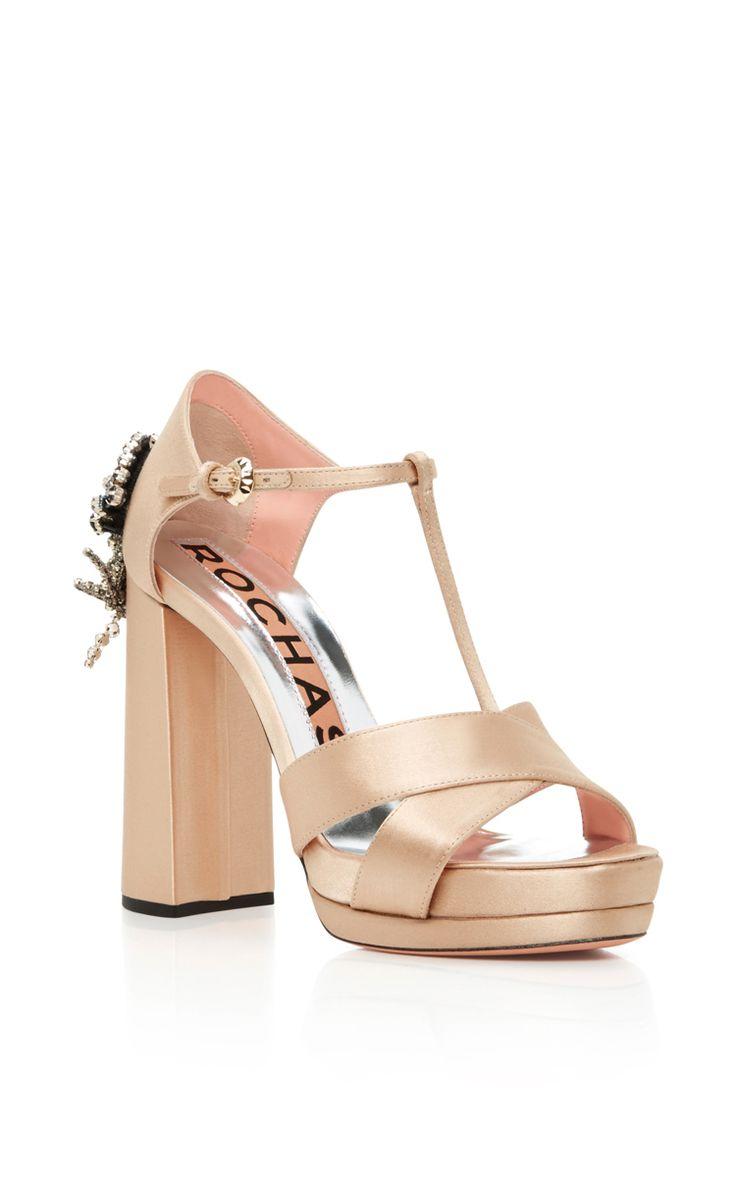 a6499423c340 Beaded Satin Heels by ROCHAS Now Available on Moda Operandi. Nackt SchuheAbsatzschuheHochhackige  ...