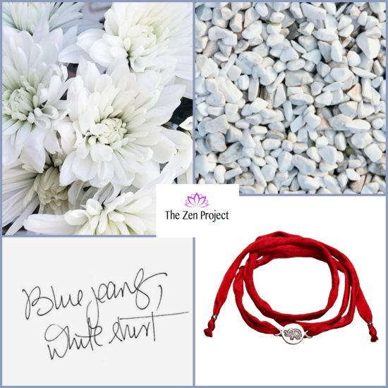 Blue jeans, white shirt & the perfect red Zen bracelet for a lucky Tuesday!  Good morning, everybody!  #thezenproject #tuesday #moodboard #staypositive