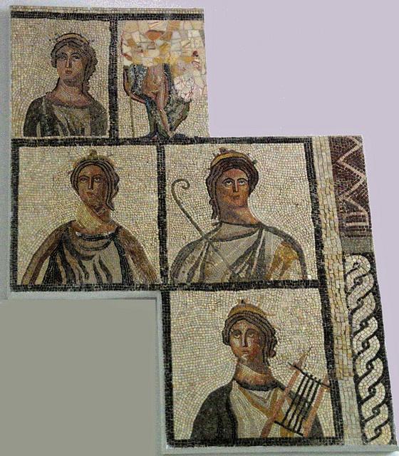 Many mosaics have survived at Sabratha...