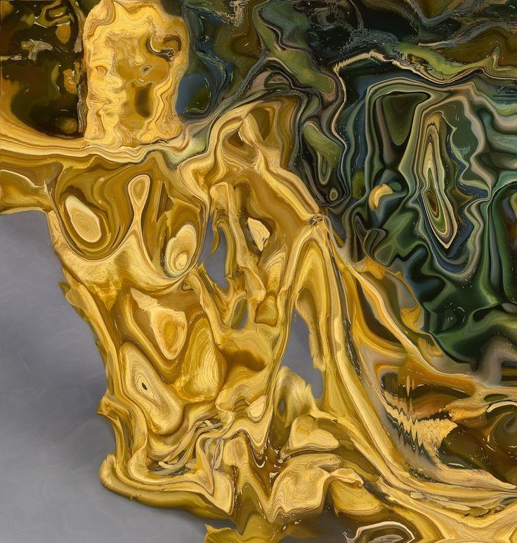Jacob, Yawning nude. 2012, C-print and acrylic, 131 x 125cm