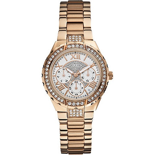 GUESS Vivacious Crystal Rose Gold Stainless Steel Μοντέλο: W0111L3 Τιμή: 177€ http://www.oroloi.gr/product_info.php?products_id=30453