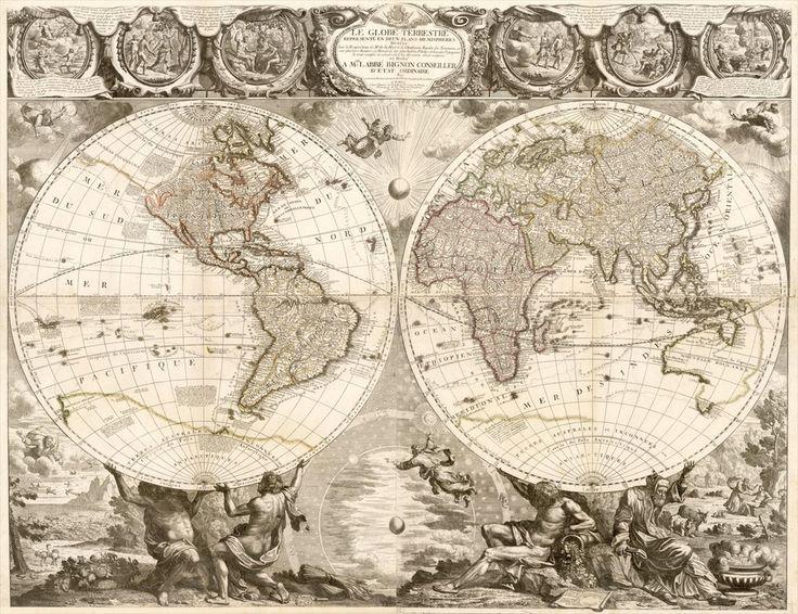 Le Globe Terrestre Represente En Deux Plans - Jean-Baptiste Nolin (1657–1708)