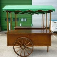 FOR SALE Street Food / Market Stall - Traditional Handmade Wooden Cart