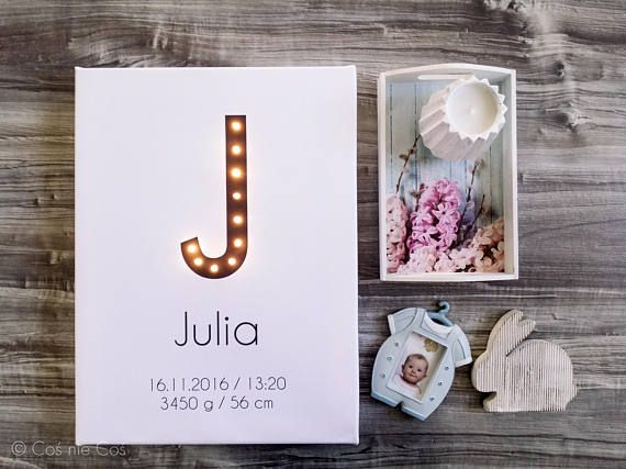 Baby announcement Big letter Marquee lights Marquee letter
