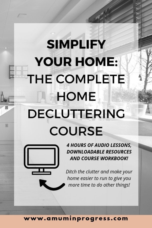 Simplify Your Home Enrol On My Course To Declutter And Organisation Ideas Pinterest Household Organization