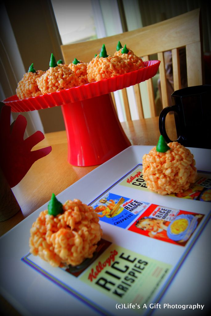Rice Crispy Pumpkins!