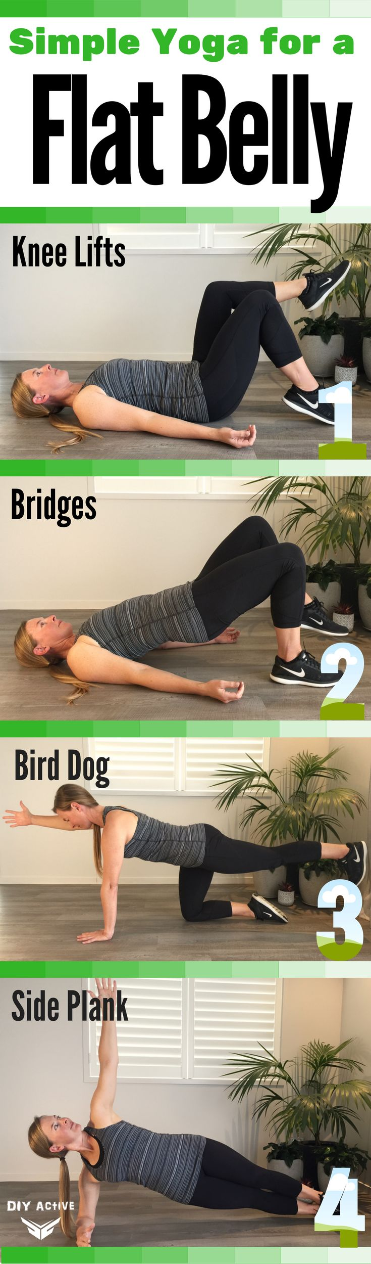 Beginner Yoga for a Strong Core and Flat Belly via @DIYActiveHQ #yoga #workout