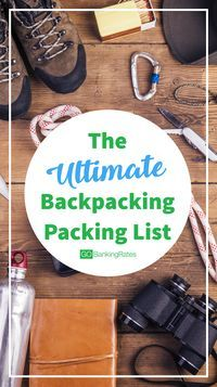 Click through to see the ultimate backpacking packing list and how much everything will cost you....