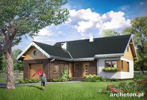 Projekt domu z garażem jednostanowiskowym