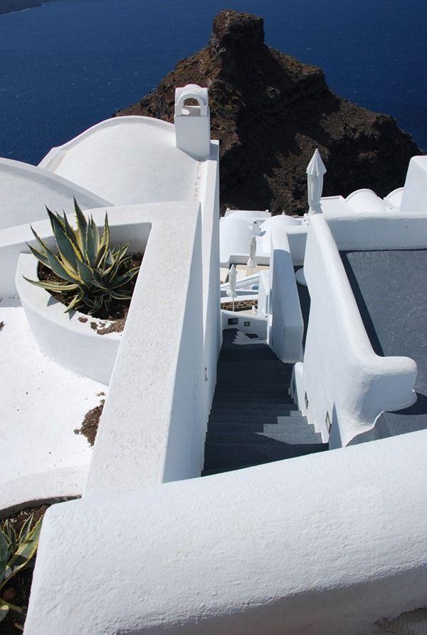 Firostefani Santorin Greece Greichenland Steps Treppen