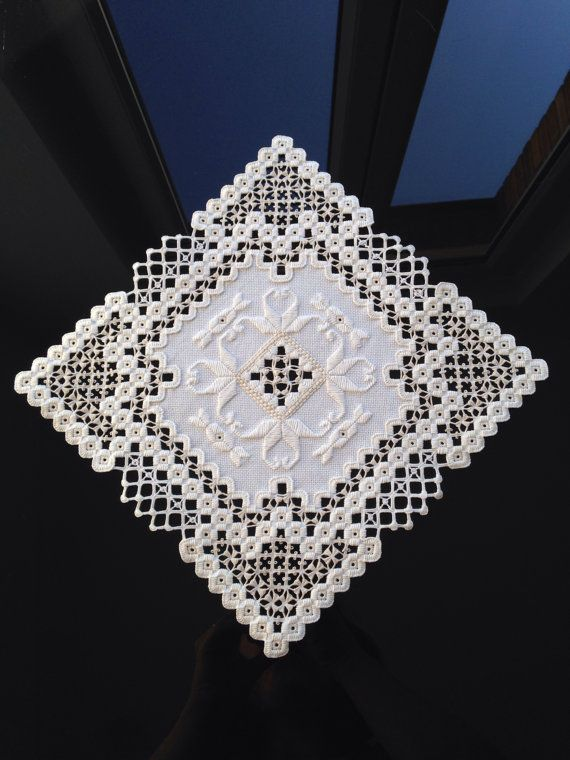 Gorgeous centerpiece -  hardanger embroidery