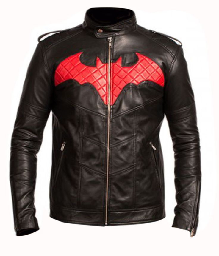 Batman Beyond Schwarz Leder Jacke