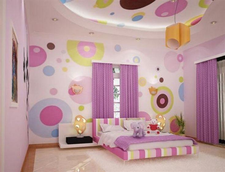 Astounding Images Of Bedroom Decoration Using Unique Bedroom Paint Colors    Gorgeous Purple Girl Bedroom Decoration. 17 Best ideas about Purple Bedroom Curtains on Pinterest   Purple