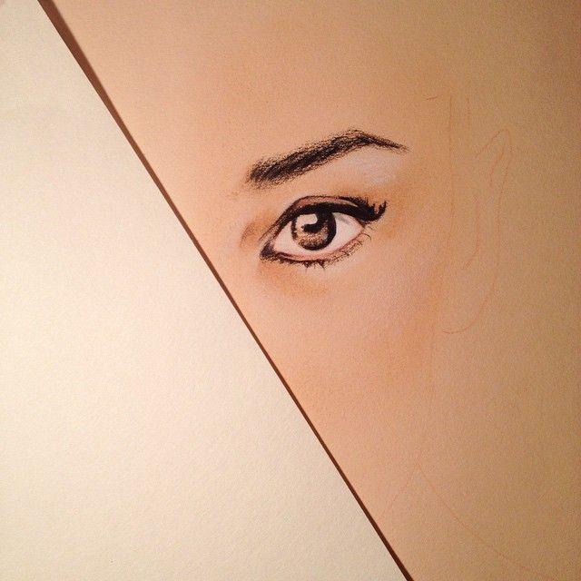 Audrey sketch by Marta Jeanette #martajeanette #modelsketch #audrey