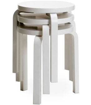 stool 60 Design Alvar Aalto, 1933 Bent birch plywood Made in Finland by Artek
