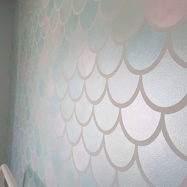 "45 Likes, 14 Comments - Kaylee (@chateau.bellegarde) on Instagram: ""Swipe to see the gorgeous shimmer of the mermaid scales Link in bio to stenciled wall how-to! . .…"""
