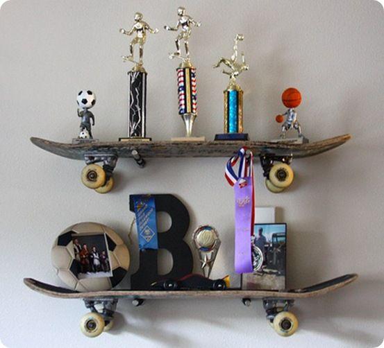1000 ideas about skateboard shelves on pinterest boy. Black Bedroom Furniture Sets. Home Design Ideas