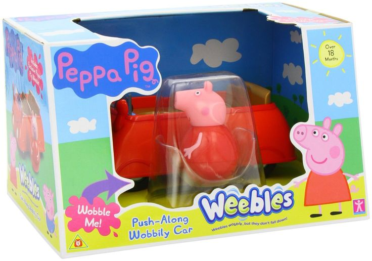 La Macchina di Peppa Pig Weebles! Quando è in movimento, la macchina dondola. Inclusa Peppa Sempre-in-piedi.
