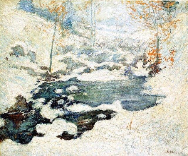 John Henry Twachtman - Icebound One of my very, very favorite paintings.