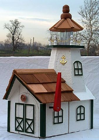 Lighthouse mailbox