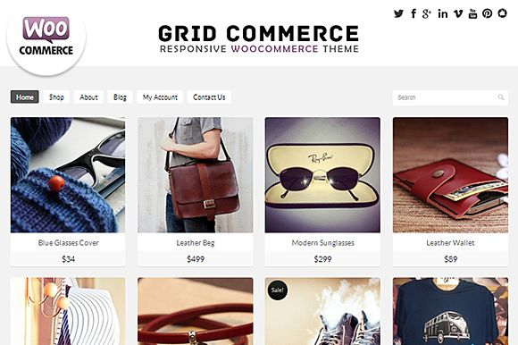 Check out Grid Commerce - Woocommerce  Theme by Dessign on Creative Market