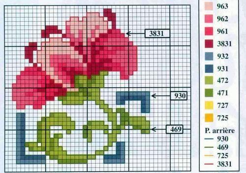 Point de Croix : Grille Fleur dans Fleurs 080129041222178861658030