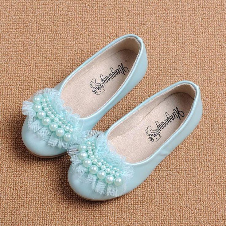 BOTTE Automne Enfants Enfants Filles Perles Bow Sandals Casual Bowknot Chaussures plates@Argent 1QVftiyI