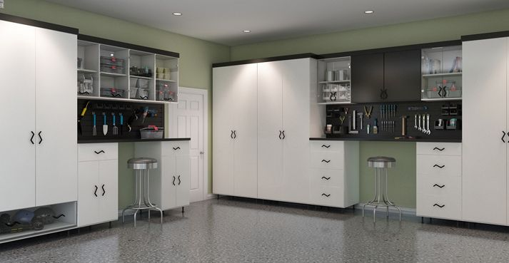 Garage cabinets for designed by Closet Factory http://www.closetfactory.com/garage.php?indexscroll