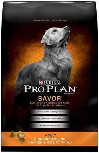 Purina Pro Plan Dry Dog Food, Savor, Shredded Blend Adult Chicken & Rice Formula, 35-Pound Bag, Pack of 1 - http://weloveourpugs.net/?product=purina-pro-plan-dry-dog-food-savor-shredded-blend-adult-chicken-rice-formula-35-pound-bag-pack-of-1