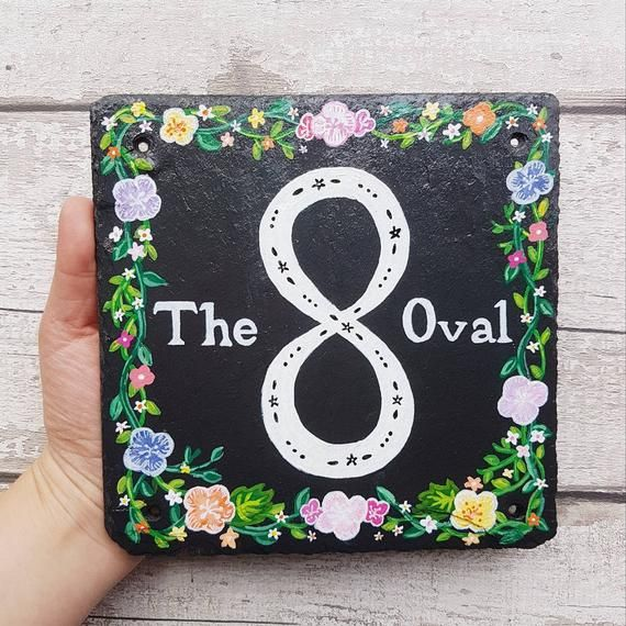 Hand Painted Slate Door Sign Pesonalised Front Door Plaque Etsy Painted Slate Door Signs Hand Painted
