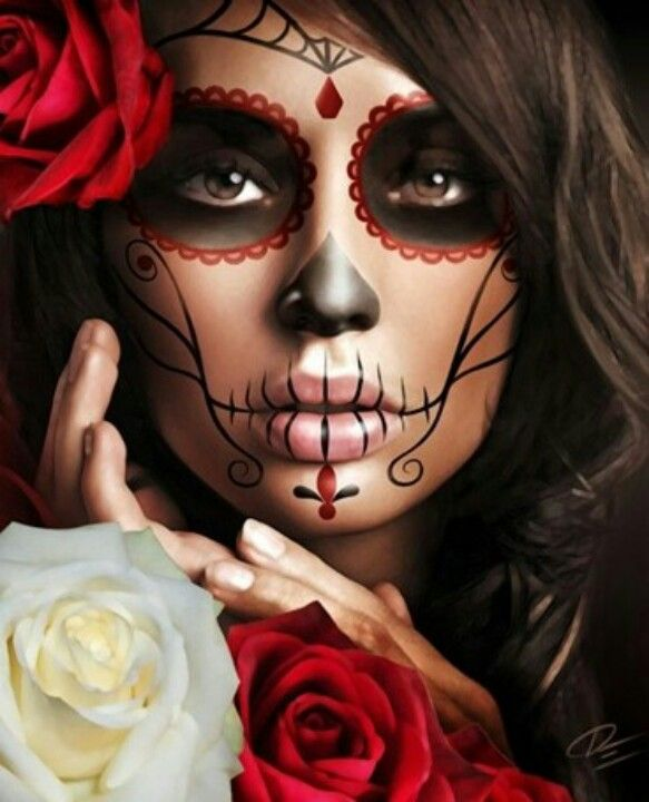 beautiful day of the dead makeup face painting