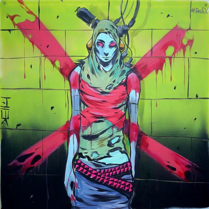 #DeihX en #ArteMunich #ilustración #graffiti