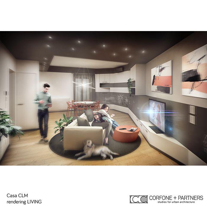 CORFONE+PARTNERS - Interior design Living Room - CLM HOUSE