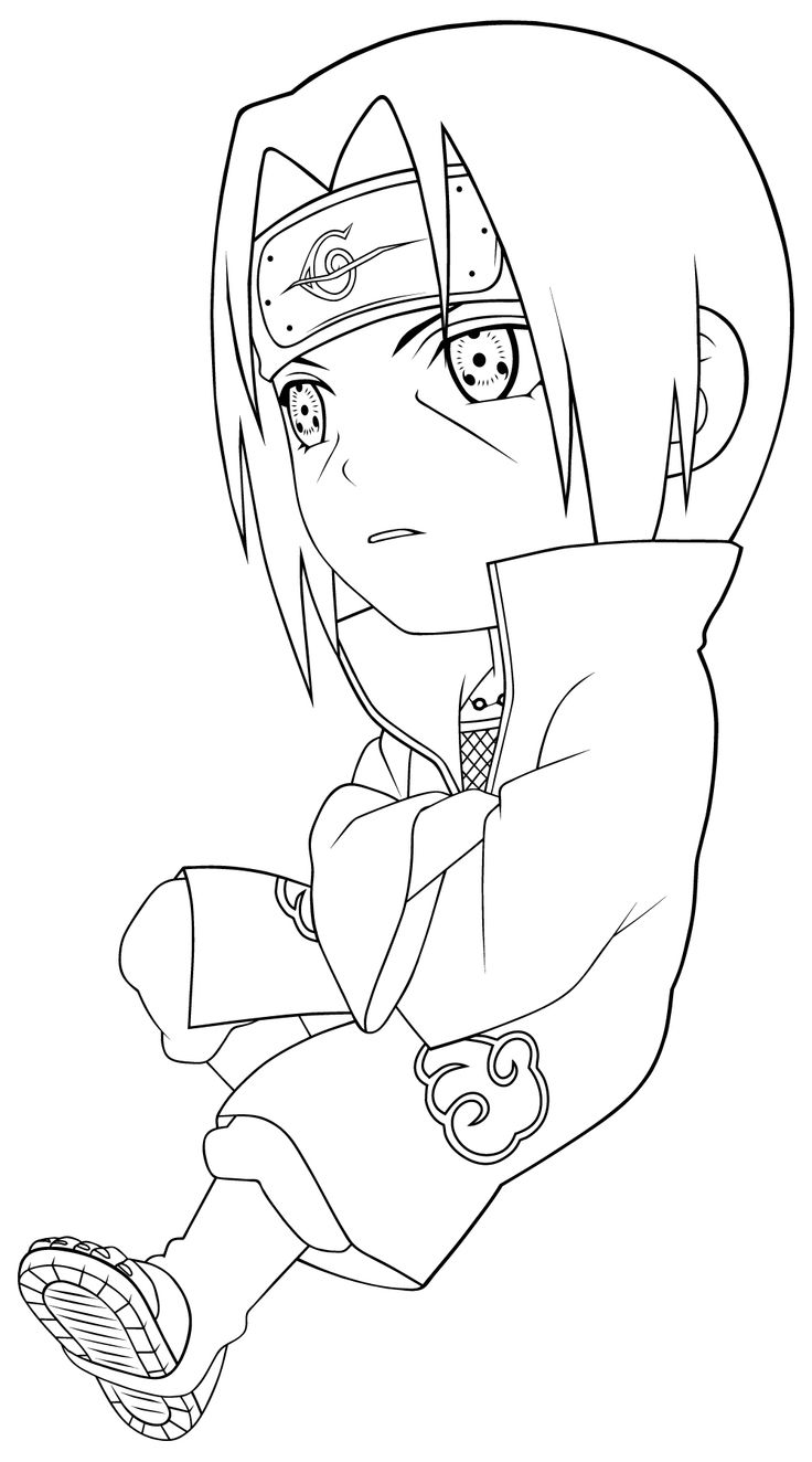 Uchiha Itachi Coloring Pages For Kids Printable Naruto