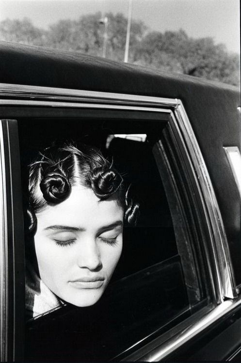 by Arthur Elgort, I use to fix the front of my hair like this actually, in 2005-06 abouts....lol