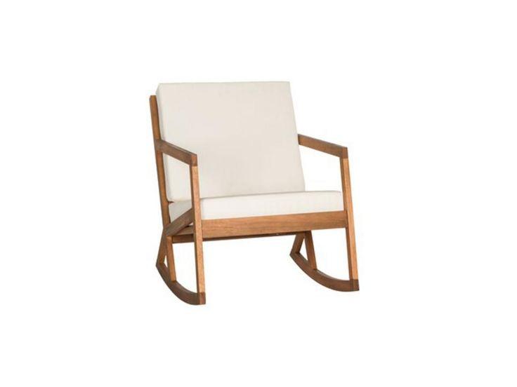 Hopme Decorators wood rocking chair. I'd paint the cushion.