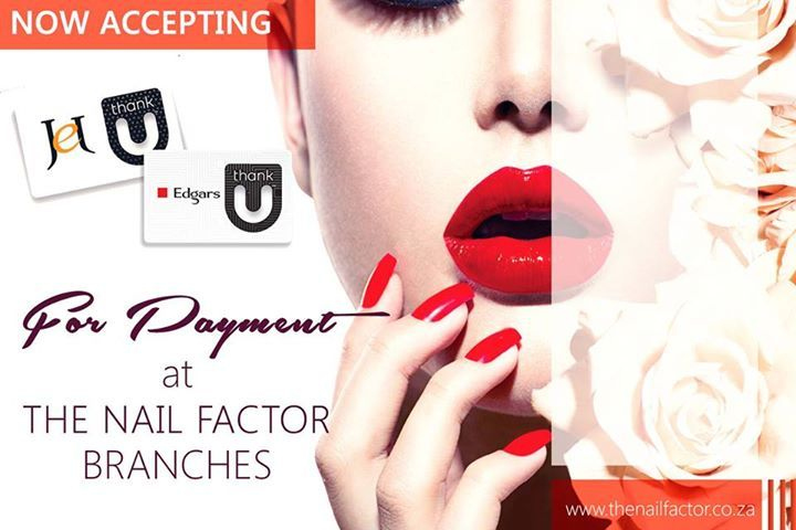 Now accepting JET and EDGARS Thank You cards @ The Nail Factor!  #nails #nail #fashion #style #TagsForLikes #cute #beauty #beautiful #instagood #pretty #girl #girls #stylish #sparkles #styles #gliter #nailart #art #opi #photooftheday #essie #unhas #preto #branco #rosa #love #shiny #polish #nailpolish #nailswag #Gateway #TheNailFactor #Umhlanga #Westville #Galleria
