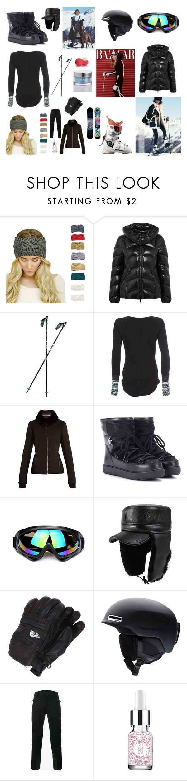 SKI MOOD by nadinezvous on Polyvore featuring mode, Free People, Moncler, Fusalp, Moncler Grenoble, Smith, The North Face, Orlane and Skin Inc