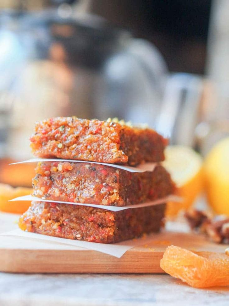 This 7 ingredient vegan walnut apricot energy bars recipe is packed full of healthy vitamins and nutrients. Ready in 20 minutes. Gluten Free.