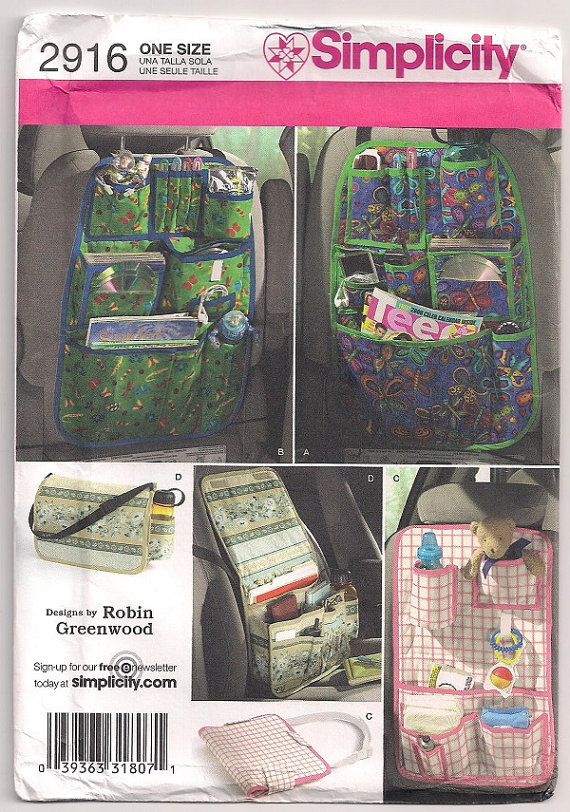 Car Organizers Simplicity 2916 back seat by SewFrazzledThreads